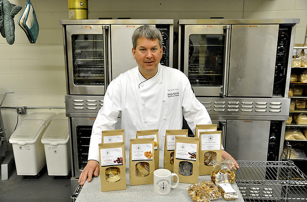 Record-Eagle/Vanessa McCray<br /> Chef Perry Harmon created a line of gourmet foods including numerous flavors of biscotti. Way North Foods are made in Traverse City and feature local ingredients.
