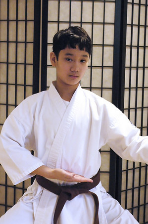 Record-Eagle/Lisa Perkins<br /> Vincent Camacho, a karate brown belt and sixth-grade student at Grand Traverse Academy, earned silver and bronze medals at the Arnold's Martial Arts Classic held in Columbus, Ohio, last weekend.