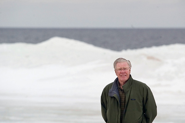 "Record-Eagle/Jan-Michael Stump<br /> Bob Hawley said he could be in favor of offshore wind turbines on Lake Michigan. ""We're going to have to deal with these energy issues at some point,"" he said."