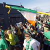 Record-Eagle/Keith King<br /> Runners cross the start line for the second annual Leapin' Leprechaun 5k Race on Saturday.