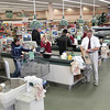 Record-Eagle/Keith King<br /> Checkout lanes at Tom's Food Market at the West Bay Shopping Center.
