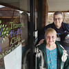 Record-Eagle/Keith King<br /> Dick and Joan Scott, of Traverse City, stand outside the Traverse Health Clinic at 3155 Logan Valley Road in Traverse City.
