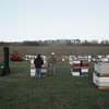 Record-Eagle/Keith King<br /> European honey bees are unloaded in Leelanau County for Jelinek Apiaries.