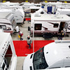 Record-Eagle/Jan-Michael Stump<br /> Visitors check out more than 50 units on display at the 20th Annual Northwest Michigan Camper and RV Show at the Grand Traverse Civic Center.