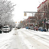 Record-Eagle/Douglas Tesner<br /> Front Street in downtown Traverse City shows the effects of a late March snow storm.