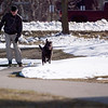 Record-Eagle/Jan-Michael Stump<br /> Fred Brown, who lives near Kaleva, skates along the TART Trail with his dog Tucker on a sunny Monday afternoon.