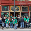 Record-Eagle file photo/Jan-Michael Stump<br /> Members of the Grand Traverse Pipes and Drums perform outside Union Street Station during last year's St. Patrick's Day Pub Crawl through Traverse City.