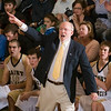 Record-Eagle/Jan-Michael Stump<br /> Traverse City St. Francis coach David Ginsberg leads his 19-1 team into the districts at Kalkaska.