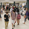 Record-Eagle/Keith King<br /> Students change classes on Tuesday at Traverse City Central High School.