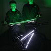 Record-Eagle/Keith King<br /> Brothers Dakota and Garret Porter show off an LED lighting kit called Action Glow in the dark.