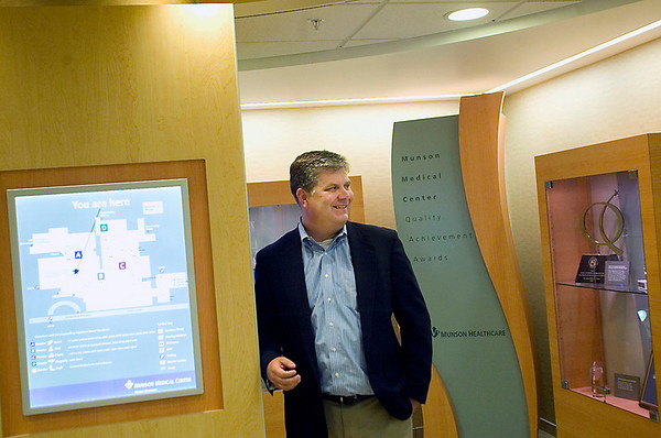 Record-Eagle/Jan-Michael Stump<br /> Munson Healthcare President and CEO Ed Ness in Munson Medical Center.