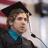 Record-Eagle/Douglas Tesner<br /> Francis Hartsuff was the student speaker at the NMC commencement ceremony.