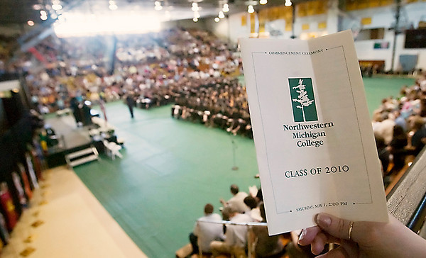 Record-Eagle/Douglas Tesner<br /> Approximately 200 students participated in the NMC graduation at Traverse City Central High School. More than 500 students graduated.