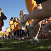 Record-Eagle/Garret Leiva<br /> Girls on the Run of Northwest Michigan held a final 5K run Friday evening on the Bayshore Marathon course starting at the Traverse City Central High School track. Nearly 800 girls in grades third through eighth from 30 different schools within the five-county region complete their six-week program of Girls on the Run by finishing a 5K run.