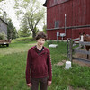 Record-Eagle/Keith King<br /> Cyprien Gilbert, 15, of Paris, France, stands on Telford Farm, where his host family lives in Cedar.