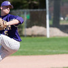 Record-Eagle/Douglas Tesner<br /> Frankfort's Cam MacArthur threw the first game of a non-conference doubleheader Friday at TC Central.