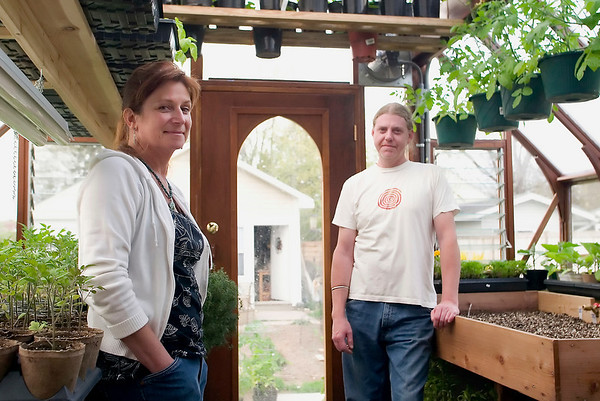 Record-Eagle/Jan-Michael Stump<br /> Kimberly Dante and her partner Nirinjan Singh would like to add chickens to the garden they've been growing in their Traverse City backyard.