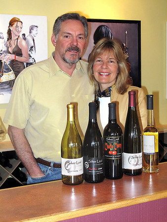 Record-Eagle/Bill O'Brien<br /> Mark and Patti Carlson left the Chicago suburbs to open Silver Leaf Vineyard & Winery north of Suttons Bay. Their 30-acre estate is set among Leelanau County's cherry and apple orchards, and they converted a former horse stable for their tasting room.