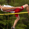 Record-Eagle/Jan-Michael Stump<br /> Benzie Central's Ben Thaxton won the high jump at the Record-Eagle Honor Roll Meet on Tuesday at Traverse City Central.