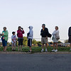 Record-Eagle/ Keith King<br /> Spectators wait for the start of the Traverse City State Bank Bayshore Marathon Saturday.