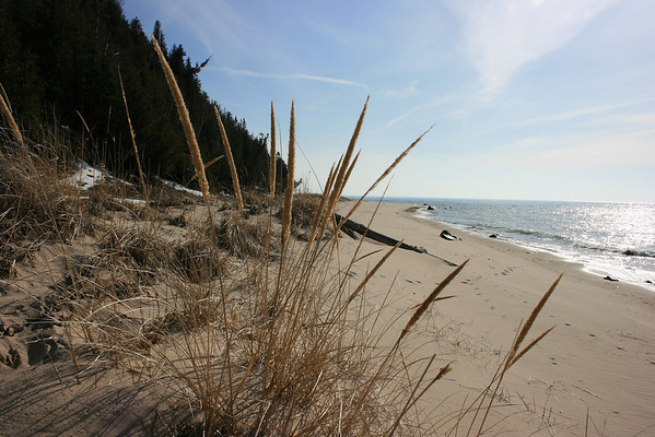 Record-Ealgle/Loraine Anderson<br /> A beach near Cathhead Bay along Lake Michigan in early spring.