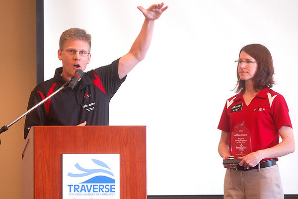 Record-Eagle/Sarah Brower<br /> The Traverse City Area Chamber of Commerce gave the 2009 Hagerty Small Business of the Year award to Rex and Jill Holden, owners of FAST Physical Therapy & FAST Fitness of Traverse City.