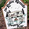 Record-Eagle/Marta Hepler Drahos<br /> A sign welcomes visitors to the Traverse Bay RV Resort home of Maggie and Ray Russell.