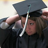 Record-Eagle/Jan-Michael Stump<br /> Northwestern Michigan College student Valerie Wagner prepares for Saturday's commencement ceremony.