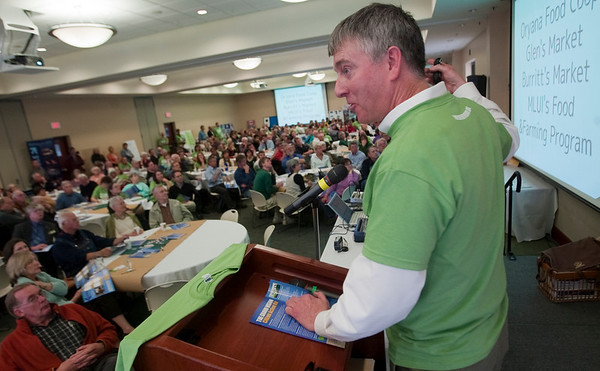 Record-Eagle/Douglas Tesner<br /> Bill Palladino gives instructions to attendees. during the Grand Vision Citizen Action Expo at the Hagerty Center on Monday.