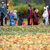 Record-Eagle/Jan-Michael Stump<br /> Trick or treaters pack Washington Street on Halloween.