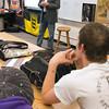 Record-Eagle/Douglas Tesner<br /> Traverse City Mayor Michael Estes visited students at Traverse City High School to answer letters that students from Josh Veith's civics and economics classes at the school had sent in.