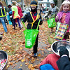 Record-Eagle/Jan-Michael Stump<br /> Luc Wallman, 8, and his sister Chloe Wallman, 6, trick or treat on Washington Street.