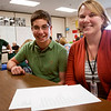 Record-Eagle/Douglas Tesner<br /> TC East Middle School teacher Ali Sullivan and her eighth grade language arts student Jacob Gerstner will both be reading poems at the 13th annual Poets Night Out at the City Opera House.