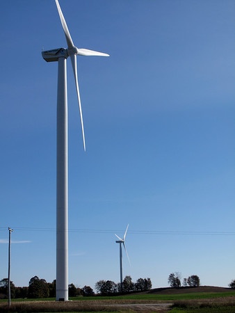 Record-Eagle/Bill O'Brien<br /> Wind turbines of Stoney Corners Wind Farm near McBain.