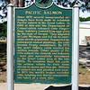Record-Eagle/Loraine Anderson<br /> A State Historic Site marker at the Platte River State Fish Hatchery gives a brief account of Michigan's decision to plant Pacific salmon in the Great Lakes.