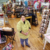 Record-Eagle/Keith King<br /> Becky Folker stands in her store, Sassy Sunflower, in downtown Bellaire.