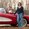 Record-Eagle/Jan-Michael Stump<br /> Tracie Sears shows off a restored 1959 Corvette she won through the Art Van furniture chain that's part of the company's 50th anniversary celebration. Her entry was among more than 500,000 received in the state-wide contest. She was among 10 finalists who attended a Michigan Legends Charity Concert held this month in Warren, where she won the vehicle, worth an estimated $60,000.  Sears lives in East Bay Township and is shown with her husband, Todd, daughter, Taylor, 7, and son Trevor, 9.