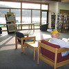 Record-Eagle/Jodee Taylor<br /> Jack Muehlmann, of Frankfort, reads in the Benzie Shores District Library in Frankfort.