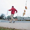 "Record-Eagle/Jan-Michael Stump<br /> Jacob Shonk dances at the intersection of Front Street and Garfield Avenue on Monday afternoon. Shonk has been dancing to promote Domino's Pizza specials 5 days a week, three hours a day, for about 2 years, but said he's been dancing since he was 5. ""The Lord gives us gifts..."" he said, ""you're supposed to share them."" Shonk keeps the music he listens to on his headphones a secret."