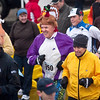Record-Eagle/Jan-Michael Stump<br /> Bruce McHaney, 69, of Hammond Bay wore a turkey hat while running Thursday's 2nd annual Turkey Trot with his wife, Fay.