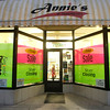 Record-Eagle/Jan-Michael Stump<br /> Hannah Gauthier sweeps up at Annie's, a novelty, gift and candy store at 208 East Front St. in downtown Traverse City, that is closing after more than 20 years of business.