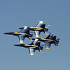 Record-Eagle file photo/Keith King<br /> The U.S. Navy Blue Angels perform during the 2010 National Cherry Festival in Traverse City. Some are questioning whether the cost of putting on the air shows is worth taxpayers' money.