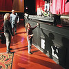 Record-Eagle/Keith King<br /> Dominic Krogel, 8, of Kalkaska County, approaches the stage at the State Theatre after winning a bike Saturday at a matinee. The giveaway was in support of the Traverse Bay Children's Advocacy Center.