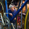 Record-Eagle/Jan-Michael Stump<br /> Don Cunkle has been repairing old bicycles in his garage for homeless shelters and nonprofit aid agencies around Traverse City for three years. He said he's repaired about 120 this year, up from 100 last year, and will keep working until it gets too cold in his unheated garage.