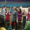 Record-Eagle/Jan-Michael Stump<br /> Harold Kranick (Judas) and Glynnis Pierce (Jesus) rehearse a scene for the Traverse City Children's Theater production of Godspell, Jr.