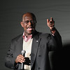 Record-Eagle/Keith King<br /> Republican presidential candidate Herman Cain speaks at Streeters in Traverse City Thursday night.