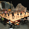 "Record-Eagle/Jan-Michael Stump<br /> Interlochen Arts Academy students rehearse a scene for ""Cabaret,"" Monday in Harvey Theatre."