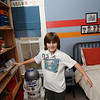 Record-Eagle/Keith King<br /> Hayden Treece, 10, of Traverse City, demonstrates his dance moves in his bedroom.