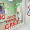 Record-Eagle/Keith King<br /> Writing is displayed Friday on the Lake Ann Elementary School office.