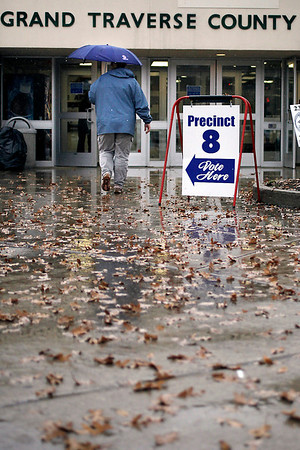 Record-Eagle/Jan-Michael Stump<br /> Voters cast their ballots at Precinct 8 in the Grand Traverse County Civic Center on Tuesday.
